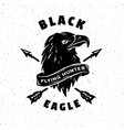 Black eagle hand drawn emblem