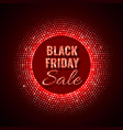 black friday sale technology background in neon vector image vector image