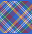 blue check diagonal plaid tartan seamless fabric vector image vector image