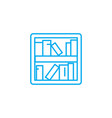 bookshelves linear icon concept bookshelves line vector image