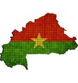 Burkina Faso map with flag inside vector image vector image