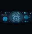 card with astrology neon virgo zodiac sign vector image