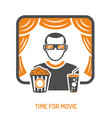 cinema and movie concept vector image vector image