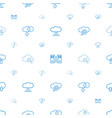 computing icons pattern seamless white background vector image vector image