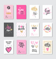 cute cards for happy mother day holiday decorated vector image vector image