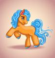 Cute cartoon little horse vector image vector image