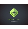 Eco green leaf logo template Green leaves loop vector image vector image