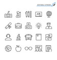 education line icons editable stroke vector image vector image
