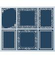 elegant set Ornate frames and vintage scroll