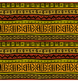 Ethnic ornamental african endless texture Seamless vector image vector image