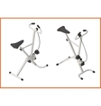 exercise bike gym 3d vector image vector image