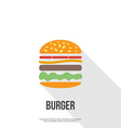 flat design hamburger web icon vector image vector image