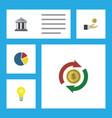 flat icon finance set of bubl interchange bank vector image vector image