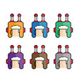 flat simple icons set robot beer vector image vector image