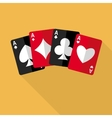 Four aces playing cards vector image vector image