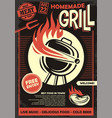 grill party artistic invitation or poster design t vector image
