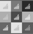 growing graph sign grayscale version of vector image vector image