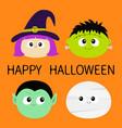 happy halloween vampire count dracula mummy vector image