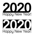 happy new year 2020 text lettering brochure vector image vector image