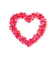 heart frame romantic decoration element vector image vector image