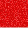 Heart seamless vector image vector image