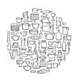 Kitchen Doodle Set vector image vector image