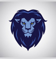 lion logo mascot blue design vector image