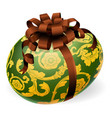 luxury ornate easter egg with bow vector image vector image