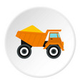 machinery with sand icon flat style vector image vector image