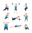 men in the gym vector image