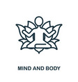 mind and body icon from alternative medicine