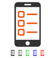 mobile list flat icon vector image vector image