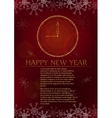 New Year card on red background vector image