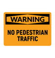 no pedestrian traffic danger icon vector image vector image