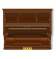 old upright piano vector image vector image