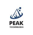 peak technology logo vector image
