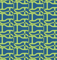 Retro 3D wavy with green net vector image