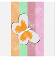 Retro butterfly design vector image