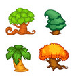 set cartoon tree for your mobile game project vector image