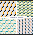 set of four seamless geometrical patterns 20 vector image