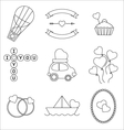 Set ofmono line elements for Valentine Day vector image vector image