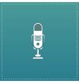 Simple retro microphone vector image