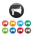 single megaphone icons set color vector image vector image
