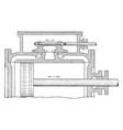 slide valve of steam engine vintage vector image vector image