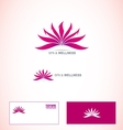 Spa and wellness logo vector image vector image