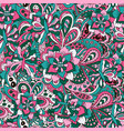 stylish national ornaments flower and wavy vector image