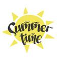 summertime - handwritten lettering word vector image vector image