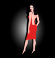 The girl in a red dress vector image vector image