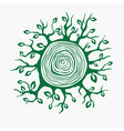 the growing branches from the tree cut vector image