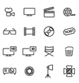 thin line icons - cinema vector image